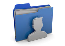 Users Folder - 3D. Contact folder on white background Royalty Free Stock Photography