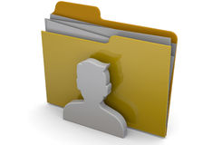 Users Folder - 3D Royalty Free Stock Photos