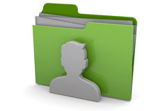 Users Folder - 3D. Contact folder on white background Stock Photography