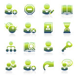 Users green icons. Royalty Free Stock Photo