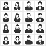 Users icon. Vector black on white background royalty free illustration