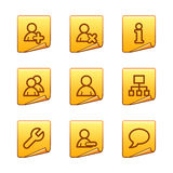 Users icons Stock Image