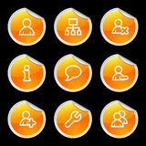 Users icons Royalty Free Stock Images
