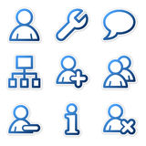 Users icons, blue series Royalty Free Stock Photography