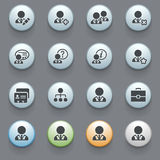 Users icons on gray background. Royalty Free Stock Image