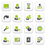 Users icons. Green gray series. Royalty Free Stock Photography