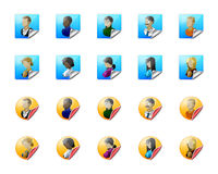 Users web icons Royalty Free Stock Image