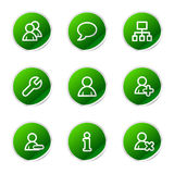 Users web icons Stock Photo