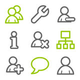 Users web icons Stock Photography