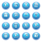 Users web icons on blue buttons. Royalty Free Stock Photography