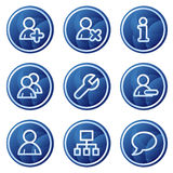 Users web icons, blue circle buttons series Royalty Free Stock Images