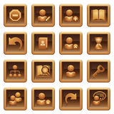 Users web icons. Brown series. Royalty Free Stock Photos