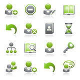 Users web icons.Gray and green series. Stock Photos