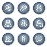 Users web icons, mineral circle buttons series Royalty Free Stock Photography