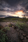 Usery Mountain Sunrise Royalty Free Stock Photography