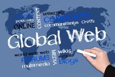 Uses Globalna sieć ilustracja wektor