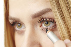 She uses kohl underneath her eye Royalty Free Stock Photography