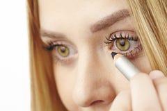 She uses kohl underneath her eye Royalty Free Stock Image