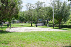 USF campus landscape: beach volleyball field Stock Images