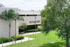 USF campus landscape: science library Royalty Free Stock Photo