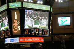 Usf men's basketball team beat FGCU 68-66 2OT Stock Images
