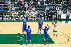 Usf men's basketball team beat FGCU 68-66 2OT Stock Photos