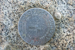 USGS Bench Mark Royalty Free Stock Images