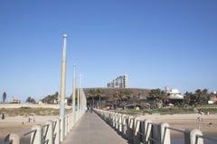 Ushaka Marine World Viewed from Vetches Pier, Durban South Afric Royalty Free Stock Photo