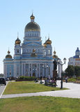 Ushakov`s cathedral in the city of Saransk Stock Photo