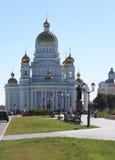 Ushakov `s Kathedrale in der Verdichtereintrittslufttemperat Stockfoto