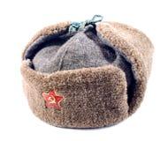 Ushanka fur hat of the Soviet army Stock Photography