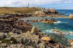 Ushant-Inselscharfküstenlinie lizenzfreie stockfotografie