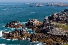 Ushant island coastline Royalty Free Stock Photos