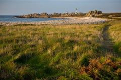 Ushant island coastline landscape Stock Photo