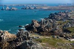 Ushant island rocky coastline Royalty Free Stock Photos