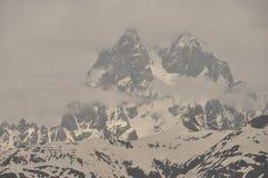 Ushba峰顶在高加索山脉 免版税库存图片