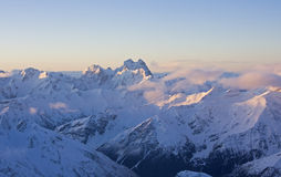 Ushba from Elbrus, Caucasus Mountains Stock Images