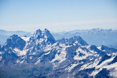 Ushba, Greater Caucasus Mountain Range Royalty Free Stock Photos