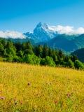 Ushba mountain Royalty Free Stock Photo