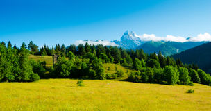 Ushba mountain Royalty Free Stock Photography