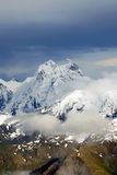 Ushba peak - caucasus mountains Stock Photos