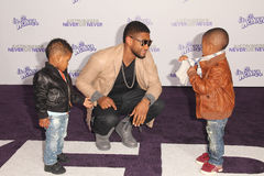 Usher. At the Justin Bieber: Never Say Never Los Angeles Premiere, Nokia Theater, Los Angeles, CA. 02-08-11 Royalty Free Stock Photos