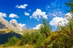 Ushguli,上部Svaneti,乔治亚,欧洲 免版税图库摄影