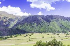 Ushguli,上部Svaneti,乔治亚,欧洲 免版税库存照片