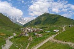Ushguli, самое высокое горное село в Европе, Svaneti, Georgia Стоковое фото RF