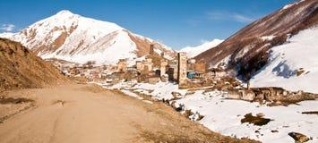 Ushguli - comunidad de cuatro pueblos - Svaneti superior, el Cáucaso m Foto de archivo libre de regalías