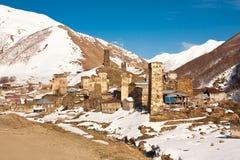 Ushguli - comunidad de cuatro pueblos - Svaneti superior, el Cáucaso m Imágenes de archivo libres de regalías