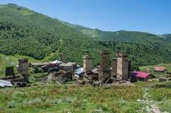 Ushguli en Georgia Imagen de archivo libre de regalías