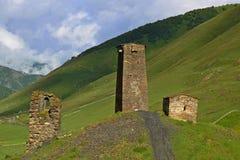 Ushguli,  Georgia. Architectural monuments of Upper Svanetia Royalty Free Stock Image