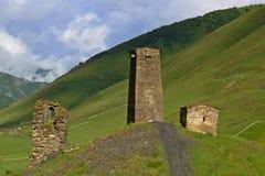Ushguli,  Georgia. Architectural monuments of Upper Svanetia Stock Images